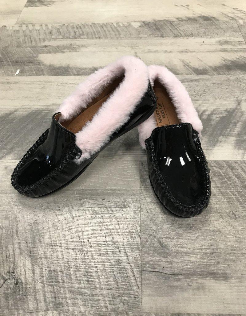 Atlanta Mocassin Atlanta Mocassin Blk Patent Loafer