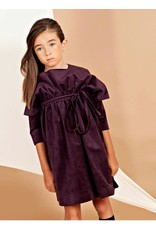 nove Nove 44 plum vlvt dress