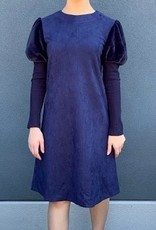 Picadilly Picadilly SM316 Suede Dress-navy