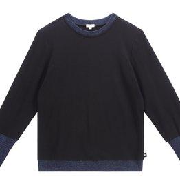 PC2 PC2 PC2 Teens  black and metallic ribbed sweatshirt