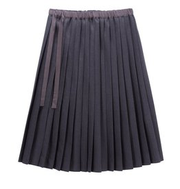 PC2 PC2 Girl's Pleated Skirt in Charcoal