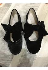 Hoo Hoo 3078 Anna's Black Vlvt Bow
