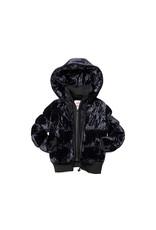 Appaman Appaman U5FC Black Vlvt Furry Coat