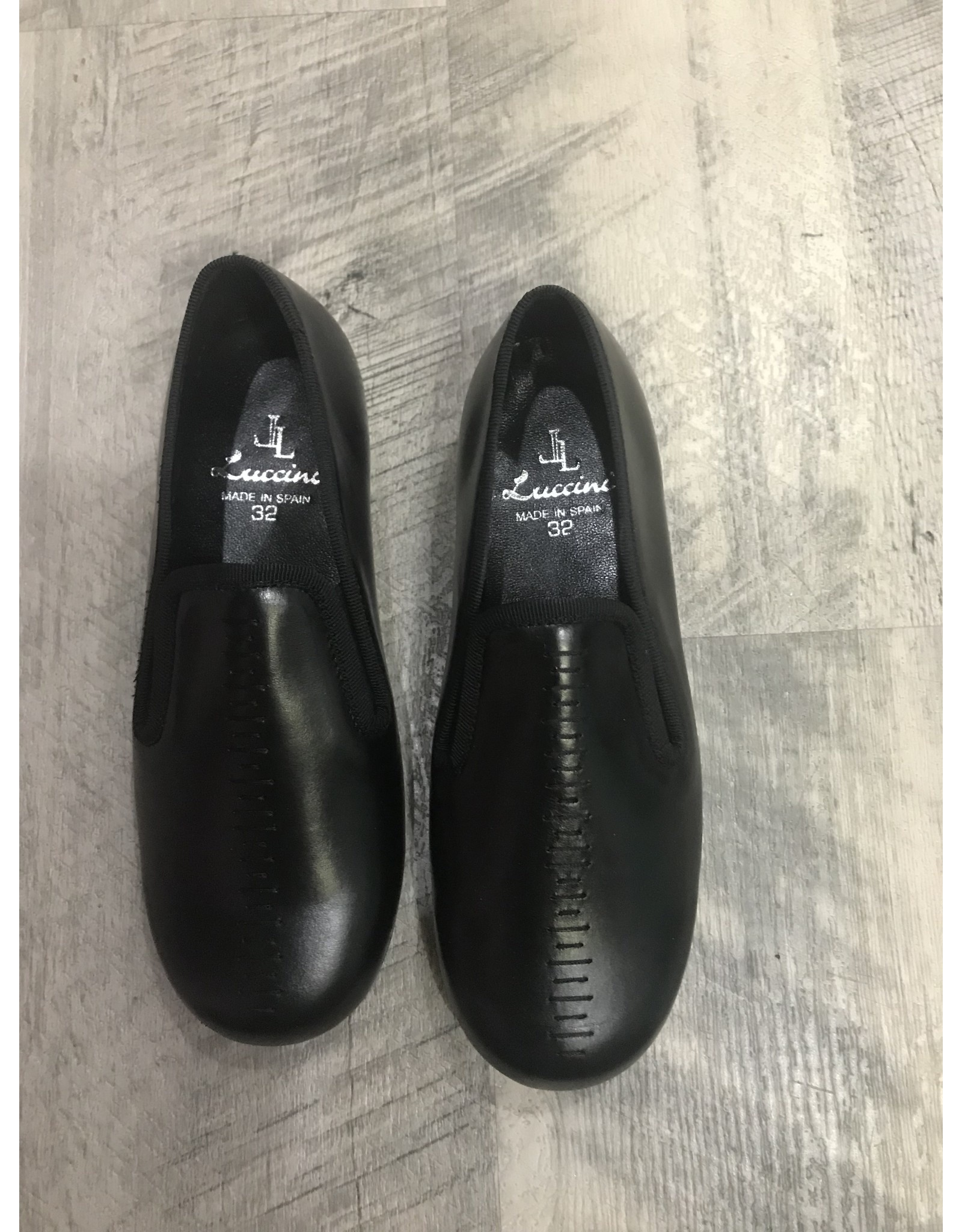 Luccini Luccini Iris Blk Smoking Loafer