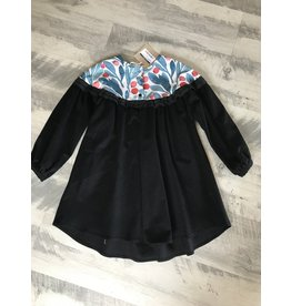 popelin Popelin Blue Black Yolk Dress