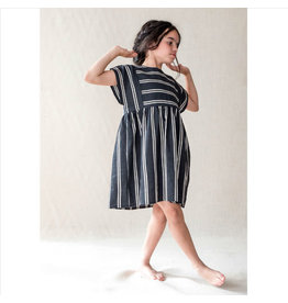 Belle Chiara Belle Chiara 366 Black stripe dress