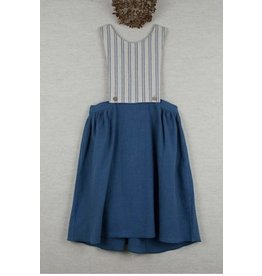 popelin Popelin 26.2 Blue bib dress