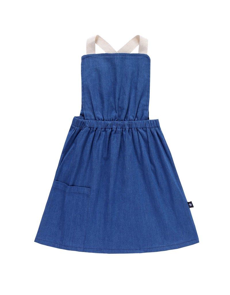 PC2 PC2 girls denim pinafore dress