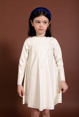 kipp Kipp TD2032 Leather Stitch Dress White