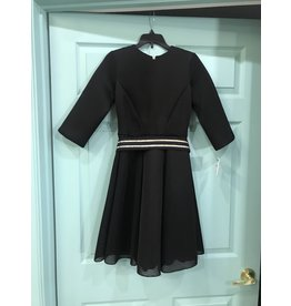 Zoe 61099DL Black Skater w/ belt