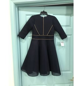 Zoe 61028DL Navy/Gold Knit Swing