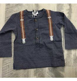 Crew Crew AL1801 Navy Suspender Shirt