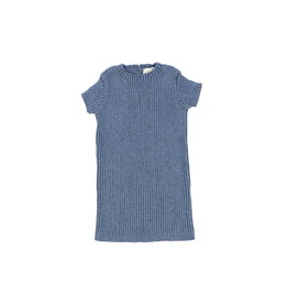Lil leggs Lil Leggs Blue SS Knit Sweater