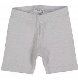 Lil leggs Lil Leggs Light Grey Ribbed Shorts