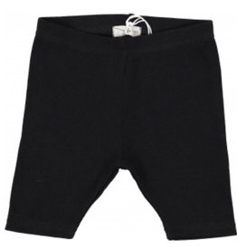 Lil leggs Lil Leggs Black Ribbed Shorts
