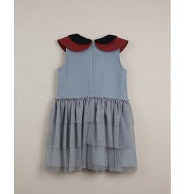 popelin Popelin Blue Double Frill Dress 22.3