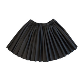 kipp Kipp TD2050 Leather Pleat Skirt Black