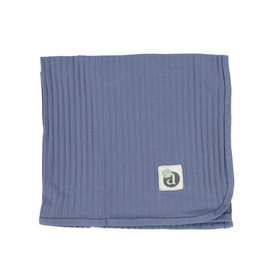 Lil leggs Lil Leggs Bluee Wide Rib Blanket