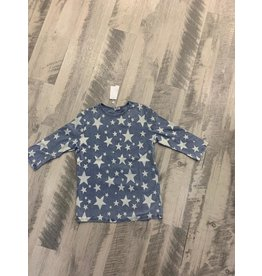 Five Star Five Star 4132G Lght denim star top