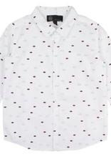 Little Cocoon Maroon Dot Collared Shirt