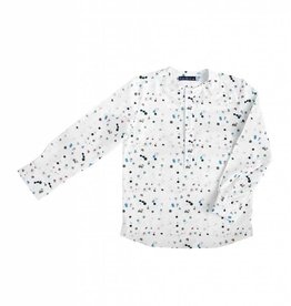 Euro Euro Boys Multi Colored Dot Collarless Shirt