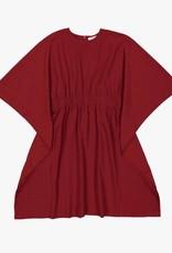 cocoblanc boxy dress deep red