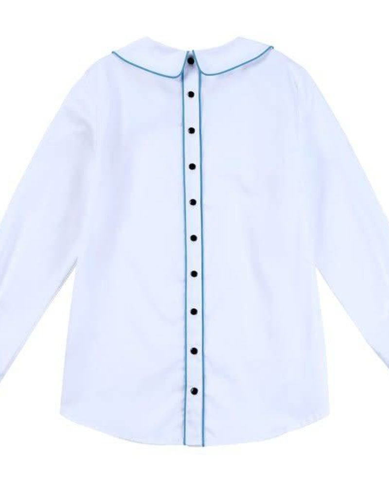 Petit clair petit clair white button back blouse