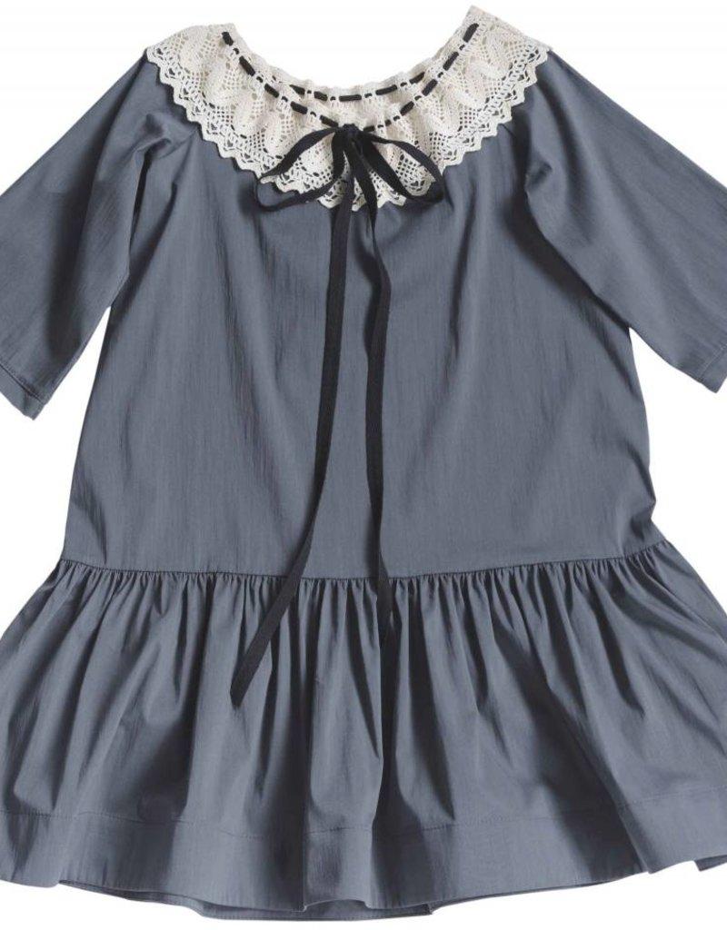 Venera Arapu Venera Arapu Grey Crochet dress