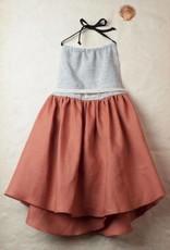 popelin Popelin reversible rust bib dress