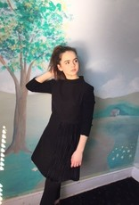 Picadilly Dress Black Plisse