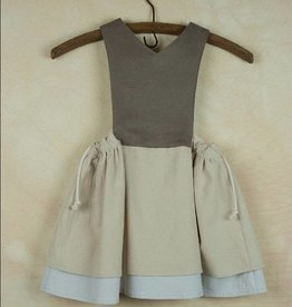 popelin Popelin Beige Bib Dress
