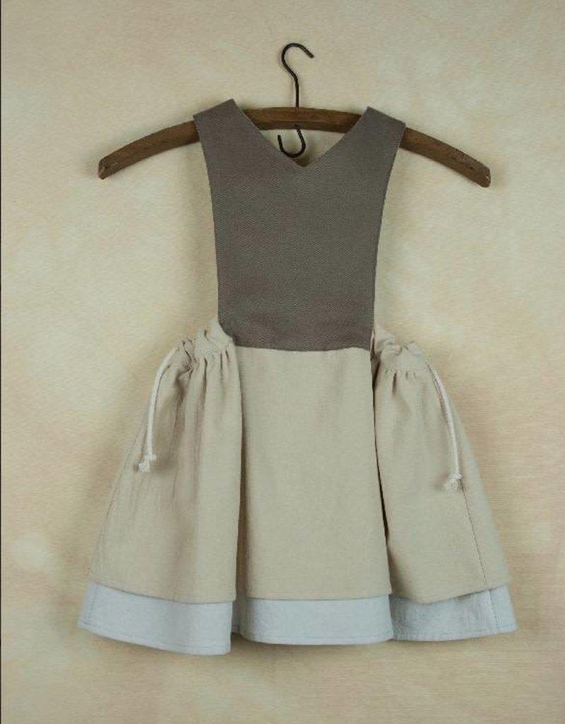popelin Popelin Beige Bib Dress
