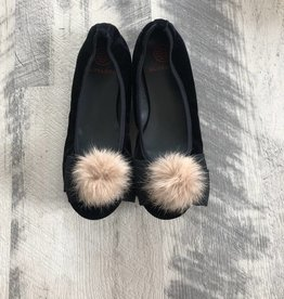 Euro steps Euro Step Black Elastic Fur Bow