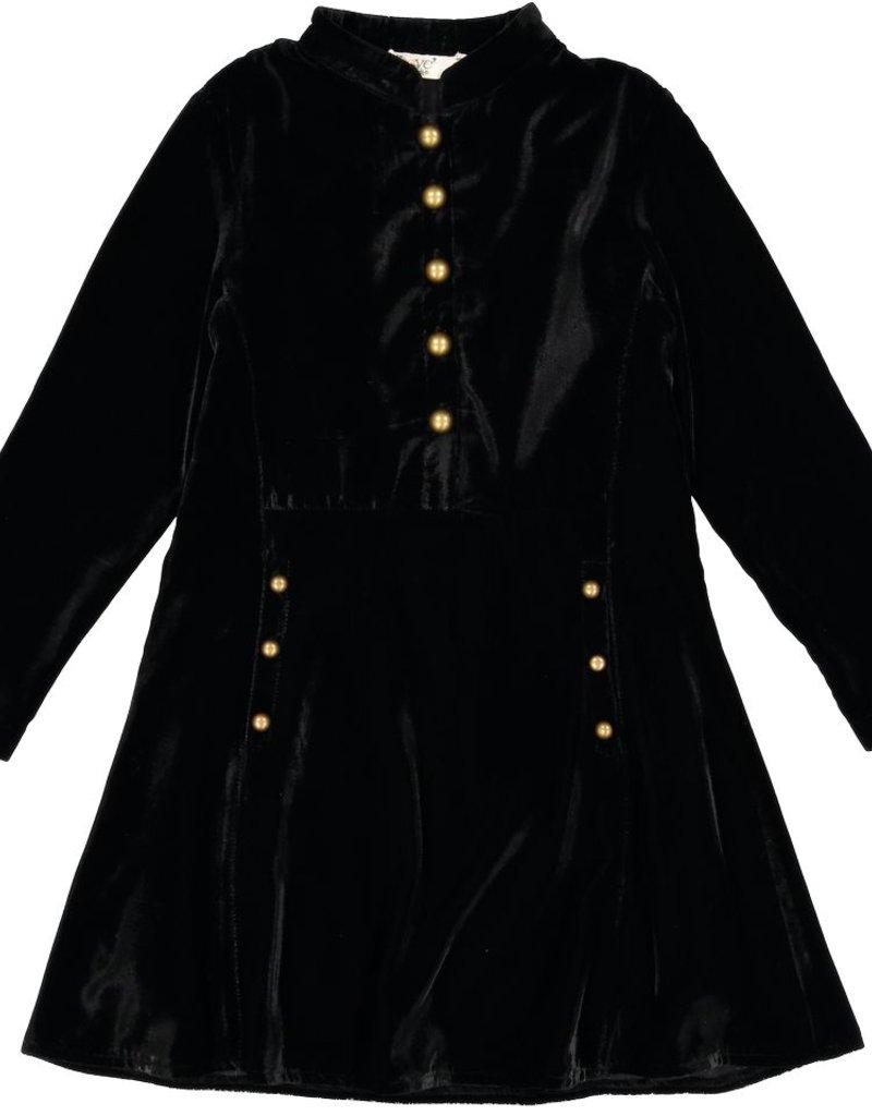 nove Nove Velvet Military Dress 612