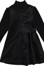 nove Nove Black Velvet Dress 608