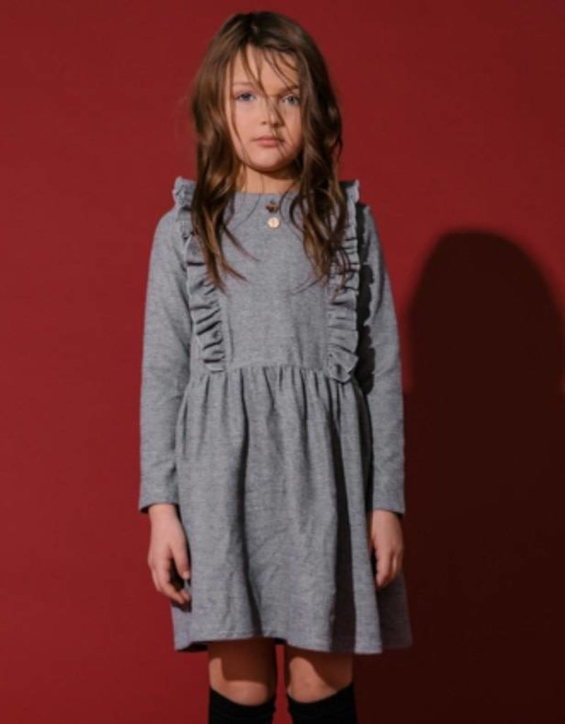 kipp Kipp TD1851 Knit Chrcl Rffle dress