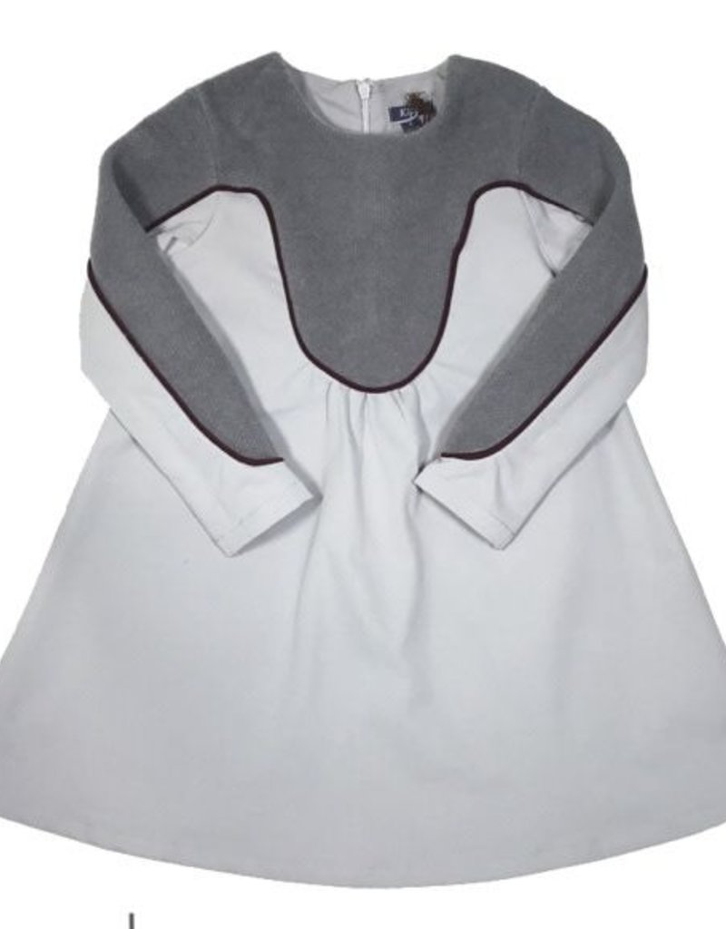 kipp Kipp TD1870 Grey Piped Dress
