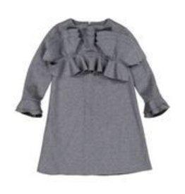 Euro Euro Grey Vlvt Dress 607-1