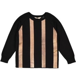 nove Nove Metallic 137 BK Sweater
