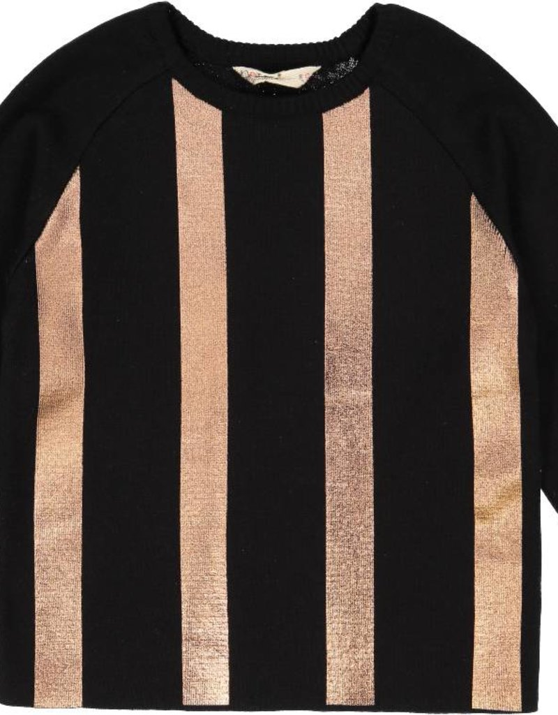 nove Nove Metallic 137 BK Sweater