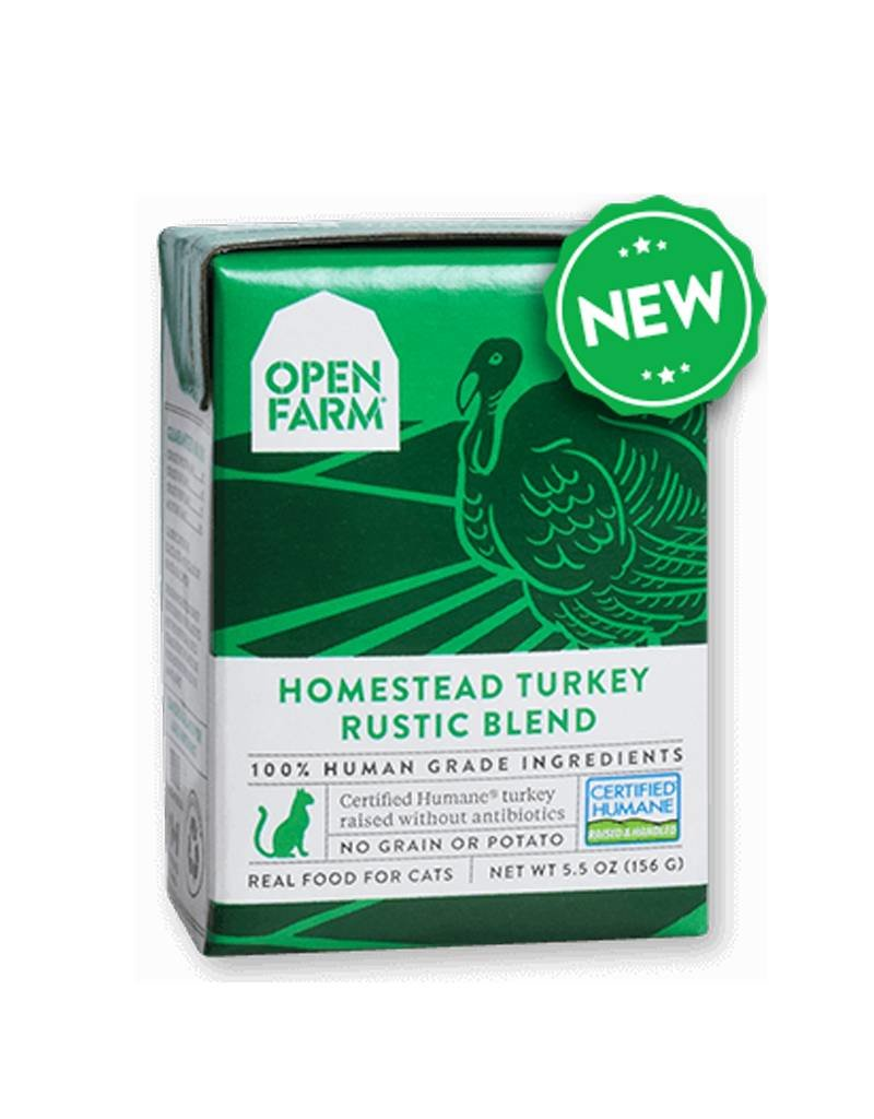 OPEN FARM Open Farm Rustic Turkey Blend for Cats 5.5oz (Case of 12)