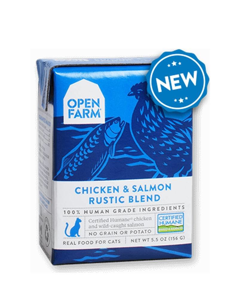 OPEN FARM Open Farm Rustic Chicken & Salmon Blend for Cats 5.5oz (Case of 12)