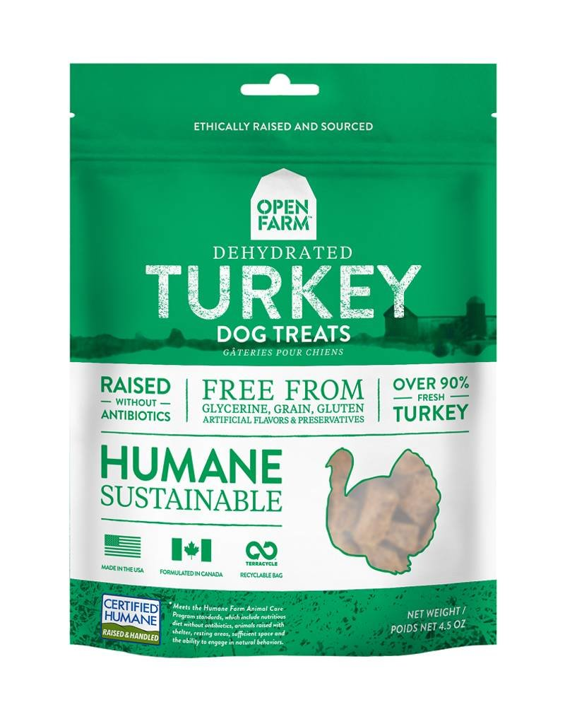OPEN FARM Open Farm Dehydrated Turkey Dog Treats 4.5oz