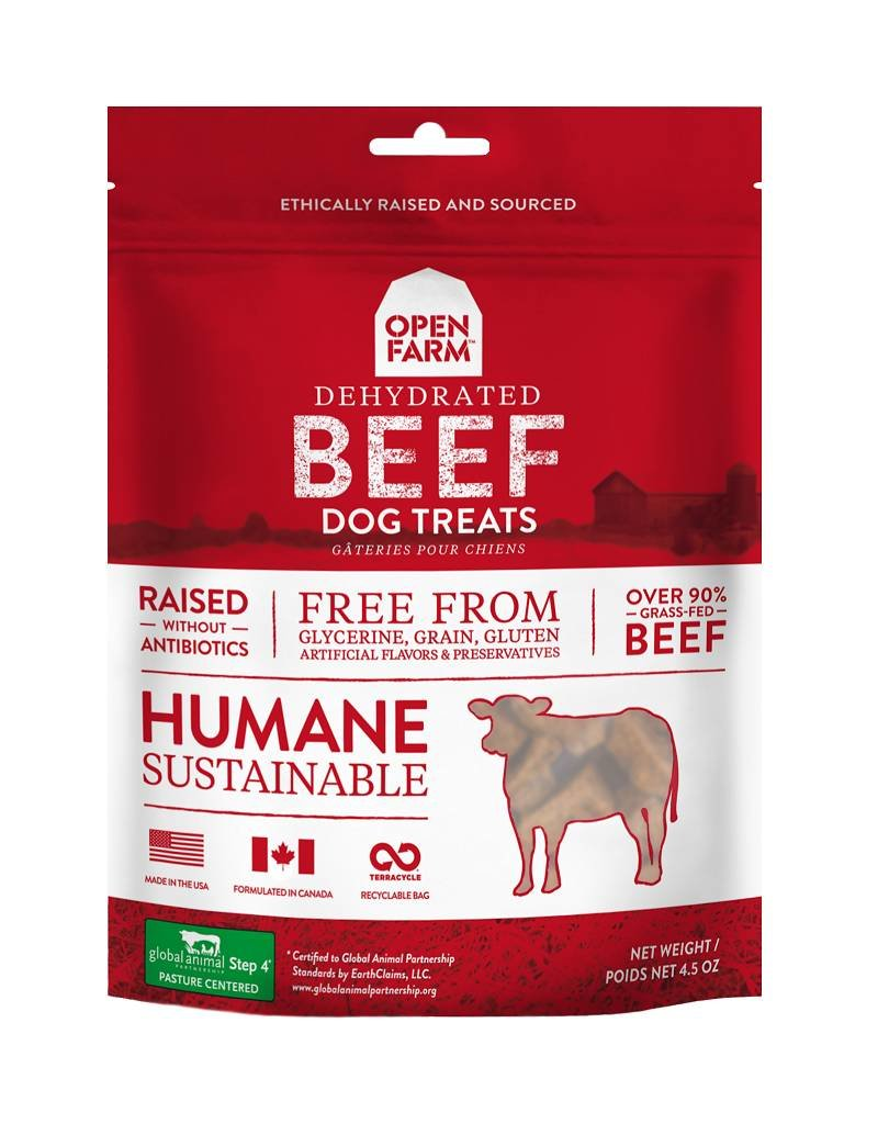 OPEN FARM Open Farm Dehydrated Beef Dog Treats 4.5oz