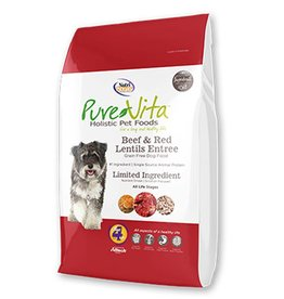 PURE VITA Pure Vita Grain Free Beef & Red Lentils Dog Food