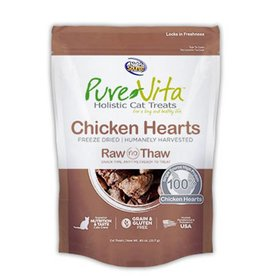 PURE VITA Pure Vita Freeze Dried Chicken Hearts Cat Treats
