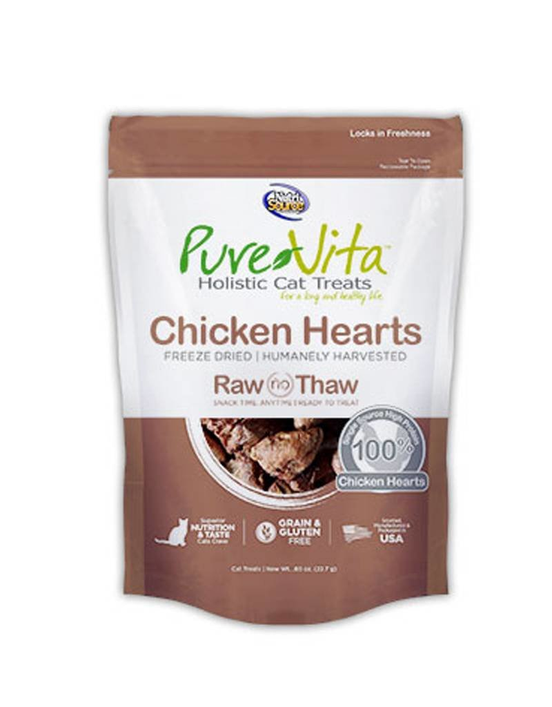 PURE VITA  Pure Vita Freeze Dried Chicken Hearts Cat Treats 0.8oz
