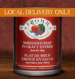 FROMM Fromm Four Star Shredded Beef 12oz Canned Dog Food (Case of 12)