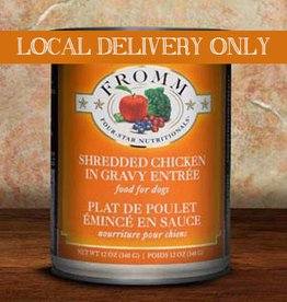 FROMM Fromm Four Star Shredded Chicken 12oz Canned Dog Food (Case of 12)
