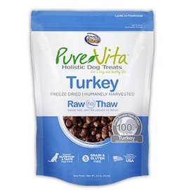 PURE VITA Pure Vita Freeze Dried Turkey Dog Treats